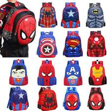Kids Boys Superhero Batman Spiderman Ironman Backpack School Book Bag Satchel AU