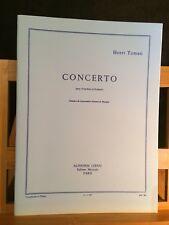 Henri Tomasi Concerto pour trombone partition piano trombone éditions Leduc