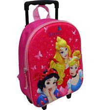 Disney Princess Trolley Rucksack Kindertrolley Koffer Mädchen Prinzessin Pink