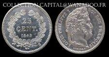 25 Cents 1845B Louis Philippe Côte SPL 120€ Argent/Silver