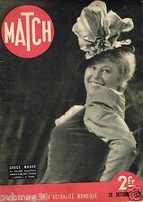 Match 20/10/1938 Grace Moore,Alerte sur la ligne Maginot
