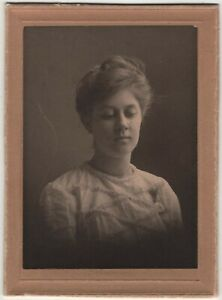 Woman Downward Glance Polly Alice Kimball Genealogy Beverly MA Vintage Photo