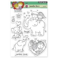 PENNY BLACK RUBBER STAMPS CLEAR JUMBO LOVE  ELEPHANT VALENTINE 2013