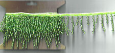 2 yards Light GREEN Color Beaded Trim Sewing Ribbon Embellishment Craft Supplies
