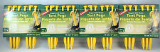 24 - 6 INCH YELLOW RUGGED ABS TENT PEGS/STAKES NO SLIP HOOKS LIGHTWEIGHT