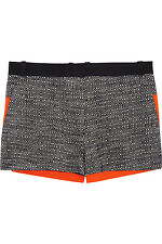 Victoria Beckham's stretch-cotton paneled tweed shorts, Size 3, RetaiL$290