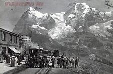 AK Wengernalp-Station mit Eiger und Mönch - 00214