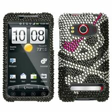 Skull Crystal Bling Hard Case Cover for HTC EVO 4G