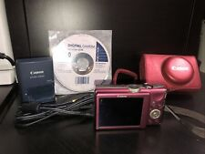 Canon PowerShot PowerShot SX200 IS 12.1MP Digital Camera - Pink Red *FINE*