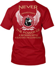 Black And Tan Coonhound - Never Underestimate The Hanes Tagless Tee T-Shirt