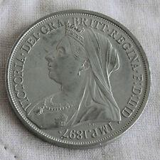 IRELAND 1897 VICTORIA NICKEL SILVER PROOF PATTERN CROWN