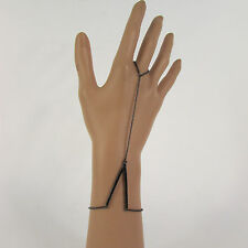 New Women V Shape Bracelet Fashion Hand Chain Slave Ring Silver / Gold / Black