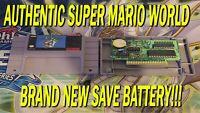 Super Mario World SNES - Super Nintendo Authentic Brand New Save Battery!!