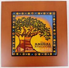 Disney Parks Animal Kingdom Tree of Life Tile Trivet Hot Pad Kitchen Picture New