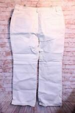 Vtg. Newport News JEANOLOGY Womens 16W White Lined Leather Jeans Pants Biker