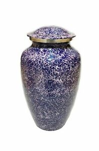 Blue And Pink Color Aluminum Classic Cremation Cremation Urn For Adult Ash