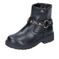 scarpe bambina SOLO SOPRANI stivaletti nero pelle sintetica BK199