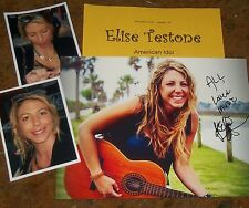 ELISE TESTONE Autographed PHOTO & Photos -REAL HOT