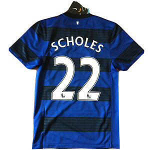 2011/12 Manchester United Away Jersey #22 SCHOLES Small Nike Red Devil NEW