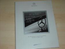 56648) Mercedes CLK 430 Cabrio ML 270 CDI S 600 IAA Pressemappe 09/1999