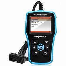 OBDII Car Diagnostic Automotive Code Reader,Topdon Plus CAN OBD2 Scanner Car O2