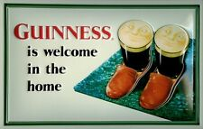 Guinness Slippers Blechschild Schild 3D geprägt gewölbt Tin Sign 20 x 30 cm