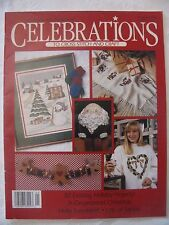 Leisure Arts Celebrations Magazine CrossStitch/Craft~Christmas 1990~32 Projects