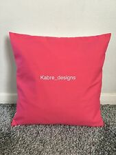 """1 NEW 16"""" PLAIN CERISE PINK COTTON CUSHION COVER OTHER COLOURS SIZES AVAILABLE"""