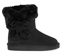 Okie Dokie Lil Amber Girls Toddler Pull On Winter Boots 6,7, 9,10 Black & Cognac