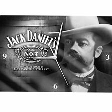 Jack Daniels Glass Clock Analogue Cameo No.7 Official Licensed Bar Man Cave Gift