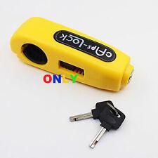 Yellow Grip Lock Brake Lever Security Anti Theft Handlebar Kawasaki Dirt Bike RH
