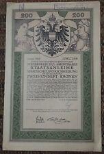 share stock bond Vienna Wien 1916. year Austria