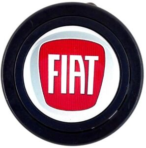 Fiat logo steering wheel horn push button. Fits Momo Sparco OMP Nardi Raid etc