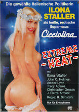 Filmplakat Extreme Heat/Carne bollente 1988 Cicciolina, Ilona Staller; Motiv H.