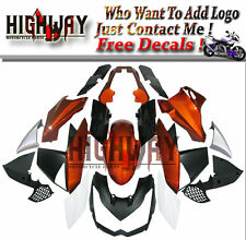 Gold White Black Fairings For Kawasaki Z1000 10-13 11 ABS Fairing Kit Bodywork