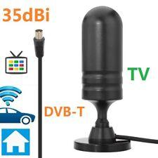 Antenna TV amplificata ALTO GUADAGNO 35db dvb T2 esterno interno base magnetica