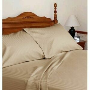 Australian Bedding Collection 100% Pima Cotton Select Item&Size Taupe Striped