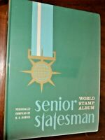 CatalinaStamps: Sr. Statesman World Stamp Album, H.E. Harris 1971 w/3,000 Stamps