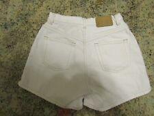 High Waisted White Denim ARIZONA Mom Shorts, Size 5