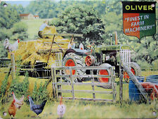 Oliver 80 Tractor Old Vintage Farm Machinery Farming Large Metal/Tin Sign