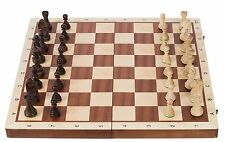 SQUARE - Wooden Chess Set No. 6 - MAHOGANY BL - Chessboard & Chess Pieces