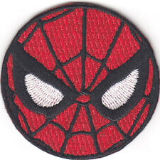 "SPIDERMAN"" MASK(1 1/2"")-Iron On Applique Patch/TV, Marvel Comics, Spidy Power"