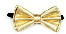 New Tuxedo PreTied Metallic Gold Classic Bow Tie Satin Adjustable