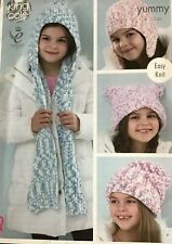 Copo De Nieve Adorno Sombrero Con Pom-Pom DK Hilo Tejer patrón tamaño Ladies Adult Cal