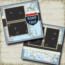ROAD TRIP - 2 Premade Scrapbook Pages - EZ Layout 110