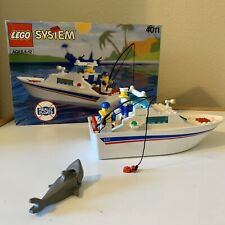 Vintage Lego #4011 Cabin Cruiser Boat With Instructions and Box. Complete.