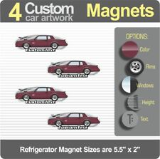4 Custom Art 87 1987 88 1988 Chevy Chevrolet Monte Carlo SS Refrigerator Magnets