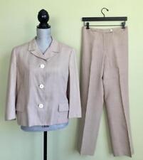 Dolce & Gabbana Tan Linen Pant Suit Size 2 28 Blazer Jacket D & G Designer