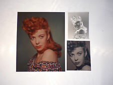 Vintage Ida Lupino Picture Hollywood Actor (2) Photo (1) Negative Lot