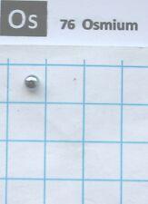 0.74 gram 99.995% Solid Osmium Metal pellet - Pure Element 76 sample